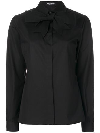shirt women classic cotton black top