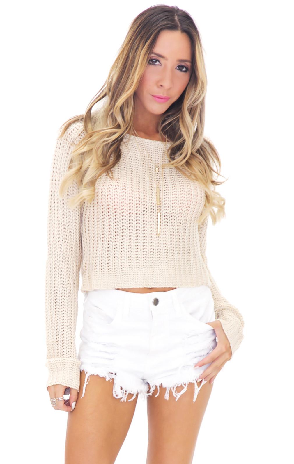 Aveda waffle sweater