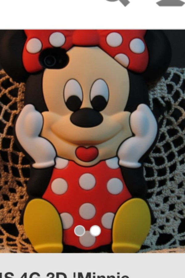 jewels minnie mouse i phone cover