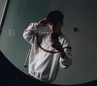sweater white rainbow jumper oversized sweater