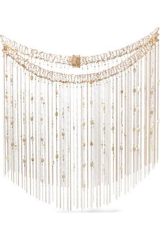 body pearl body chain gold underwear