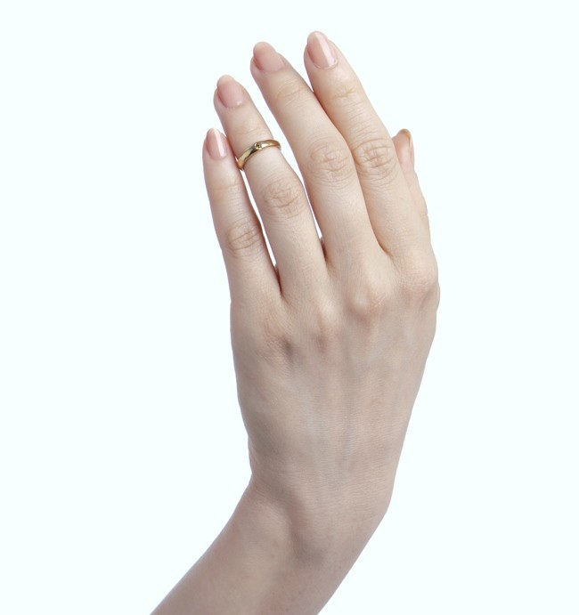 Simple Knuckle Ring w/ Diamond - jewelry