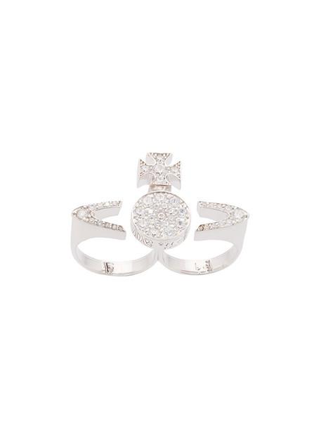 Vivienne Westwood women ring grey metallic jewels