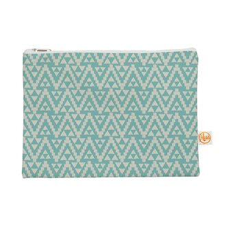 bag make-up makeup bag pastel tribal pattern