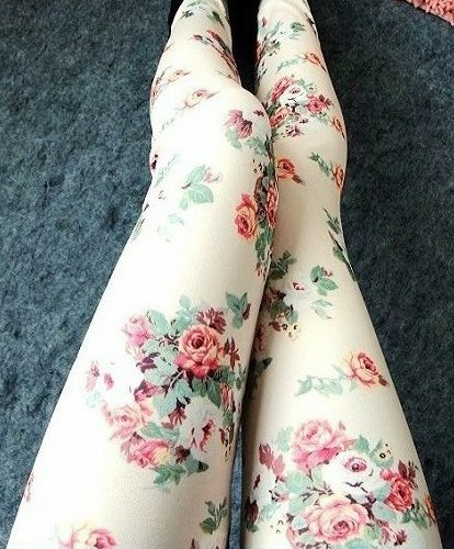 Floral leggings from new spirit boutique on storenvy