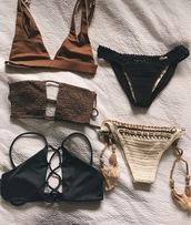 swimwear,crochet bikini