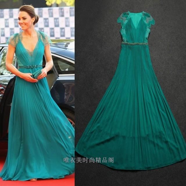 dress, prom dress, long dress, lace dress, blue dress, kate ...
