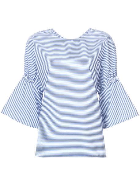 Tibi women cotton blue top