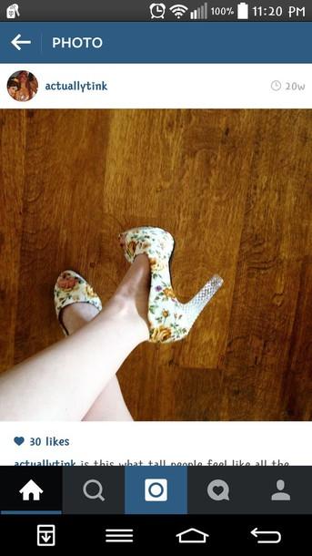 shoes floral shoes