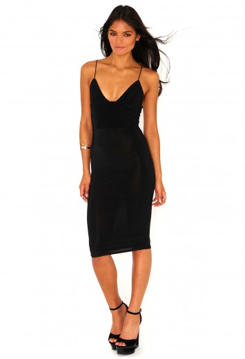 Elodia Slinky Strappy Midi Dress - Dresses - Missguided