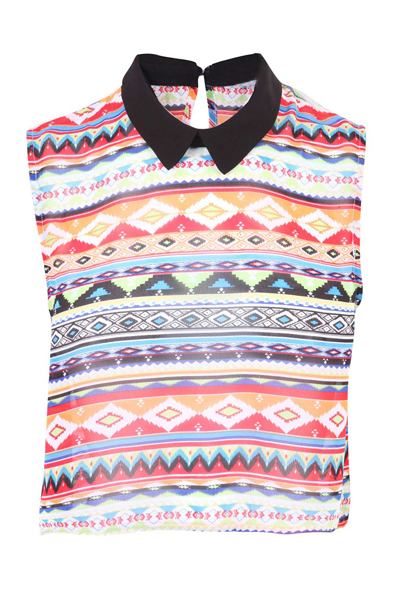 Print aztec sleeveless top at fashion union
