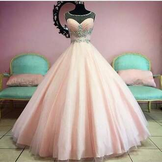 dress pink prom dress prom gown ball gown dress tulle dress