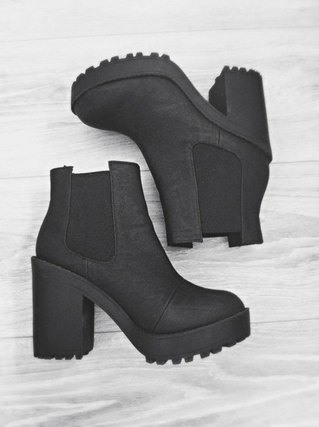 e81f6734ecfb9 shoes black boots heels grunge platform shoes h m