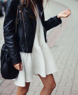 dress white dress peplum dress