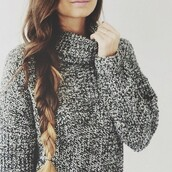 sweater,cozy sweater,cozy,fall sweater,fall outfits,casual,turtleneck,white sweater,soft,winter sweater,knitted sweater,black sweater,grey,knit,oversized turtleneck sweater,grey sweater,grey top,jumper,polo sweater,heavy knit jumper