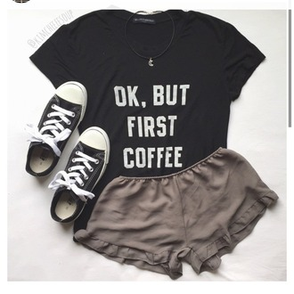 shorts tan green brown hippy 'boho boho style shirt black white words black t-shirt grunge t-shirt grunge