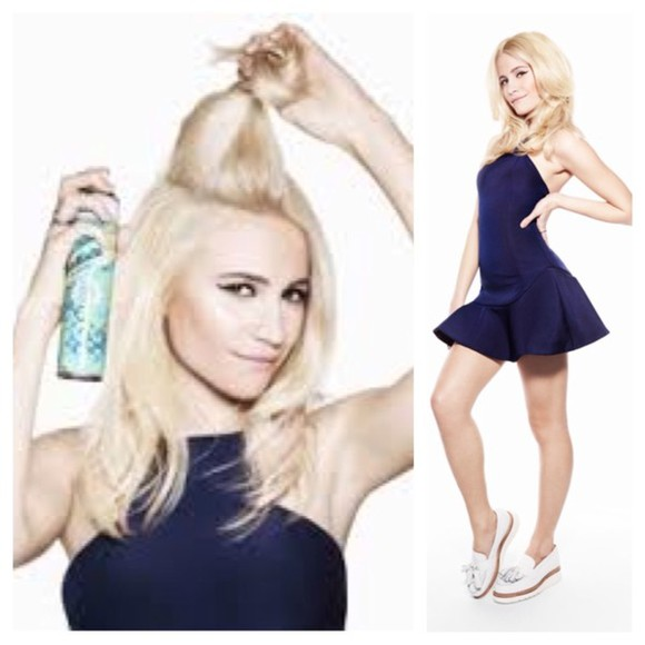 moccasins dress pixie lott blue dress navy blue girly sophisticated style blonde hair celebrity dresses celebrity style