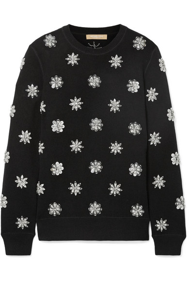 Michael Kors Collection - Crystal-embellished knitted sweater
