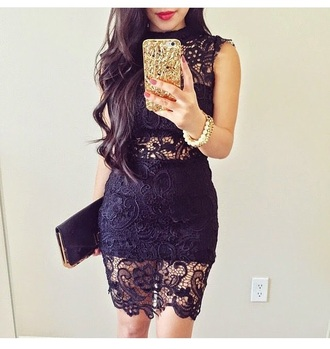 dress bracelets pearl sexy dress sexy party dresses style clutch bag blue dress see through lace dress outfit spring outfits party outfits date outfit summer outfits spring dress spring jewels accessories lipstick red lipstick cute dress phone cover
