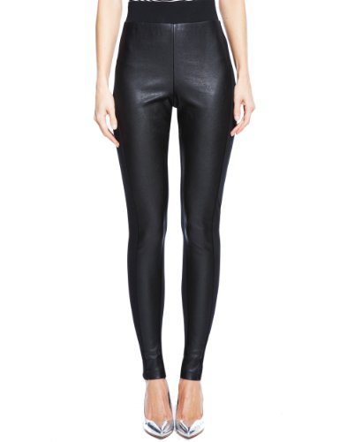 M&S Collection Front Faux Leather Panelled Leggings-Marks & Spencer