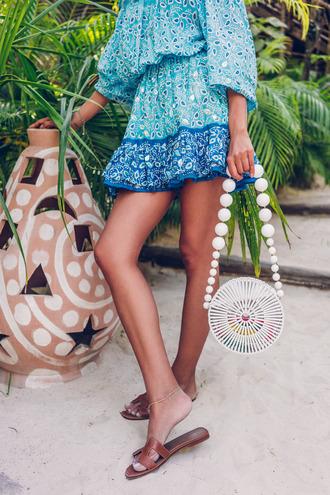 vivaluxury - fashion blog by annabelle fleur: nyfw mini moment blogger dress jewels hat shoes cult gaia bag round bag summer outfits beach dress