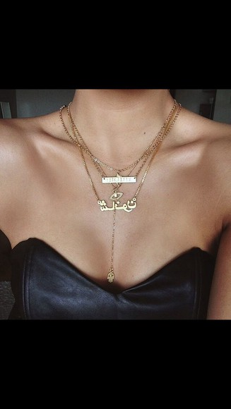 jewels chain necklace arabic gold jewelry