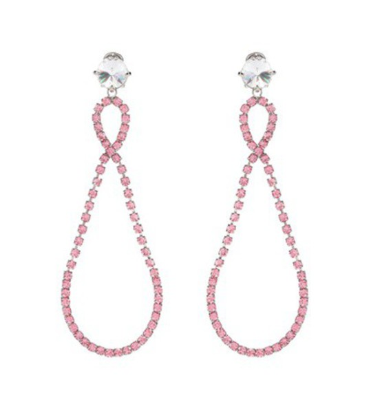 Miu Miu embellished earrings pink jewels