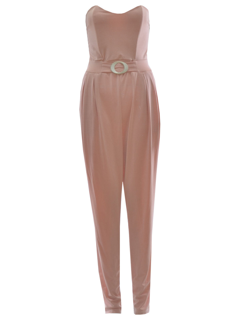 Eneco Bandeau Style Jumpsuit In Nude