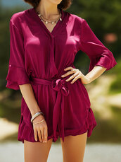 romper,red,burgundy,summer,fashion,trendy,spring,dressfo