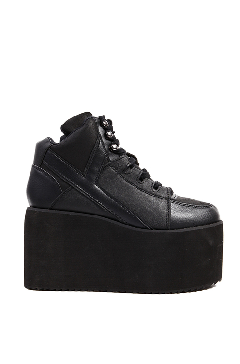 Y.R.U. Qozmo High Platform Sneaker in Black | Y.R.U. Shoes | ShopAKIRA.com