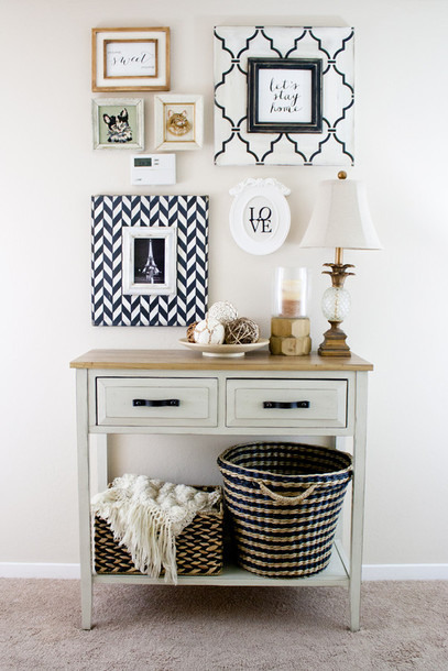 Its Not Her Me Blogger Home Decor Frame Chevron Lifestyle Accessory Table Mothers Day