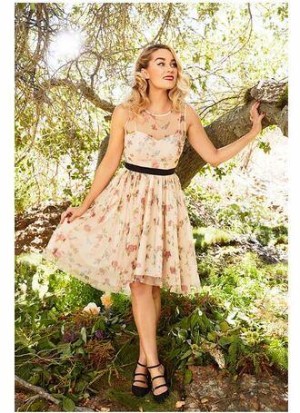 dress floral dress midi dress blogger lauren conrad
