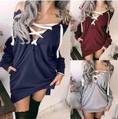 top,lace up,oversized,any color