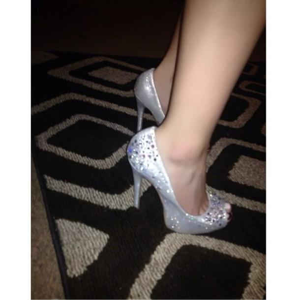 dbafb7e0424 Silver 5 Inch Heels - Js Heel