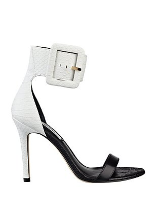 Odeum Single-Sole Sandals with Ankle Buckle at Guess