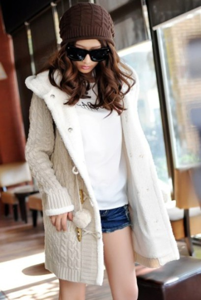 Cardigan Knitted Cardigan Cozy Sweater Sweater Coat Soft Cute
