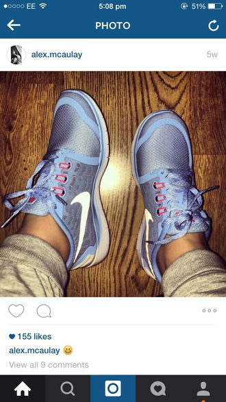 shoes nike blue pink