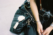 bag,purse,camera,black