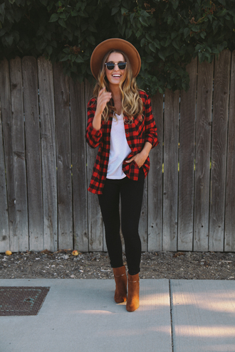 the day book blogger flannel shirt suede shoes
