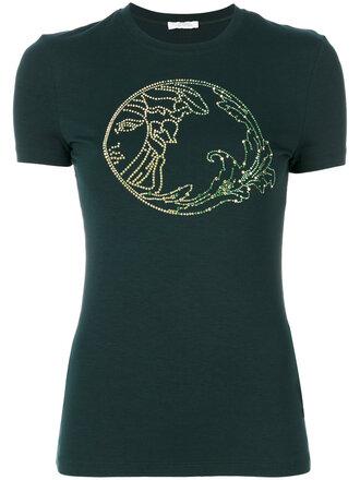 t-shirt fashion clothes farfetch embellished logo t-shirt