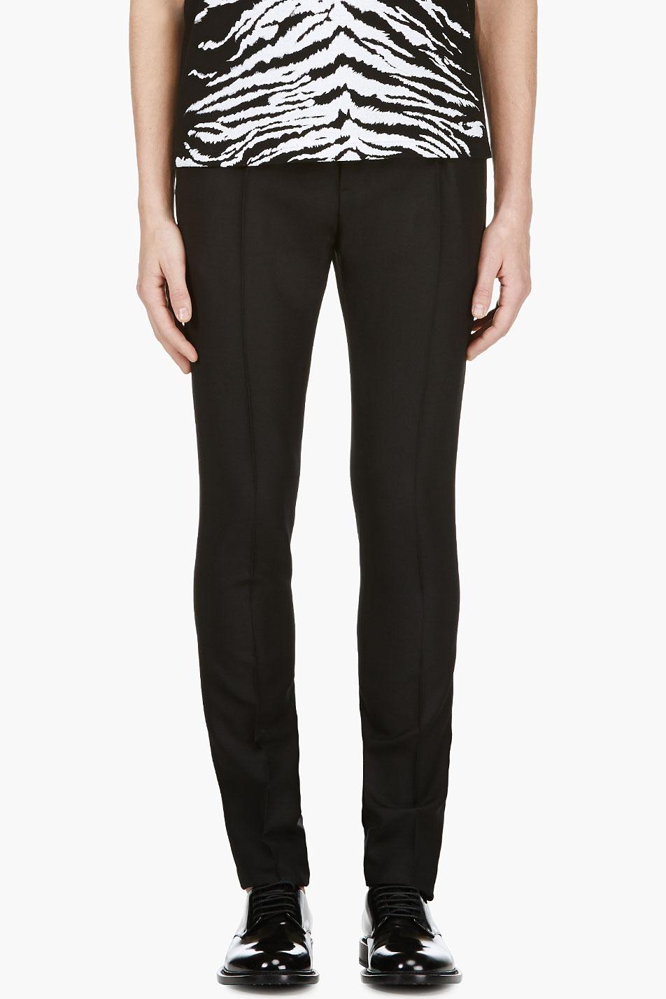 Saint Laurent Black Pleated Classic Trousers