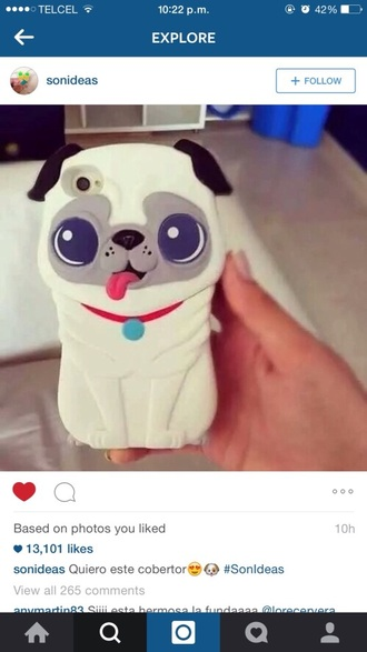 phone cover dog iphone cute animal pug