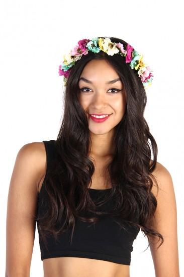 Multi Color Flower Crown Headband