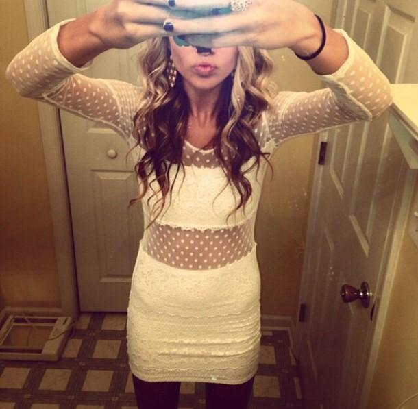 dress white long sleeves