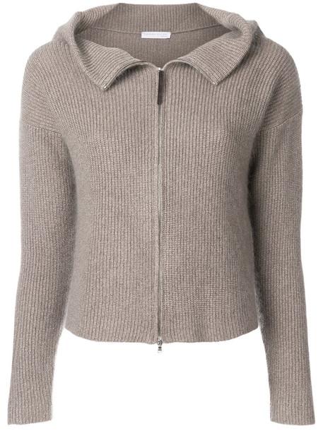 Fabiana Filippi cardigan cardigan zip women silk grey sweater