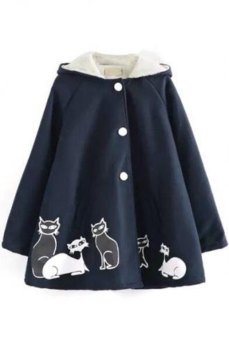 jacket cats blue coat baby clothing navy