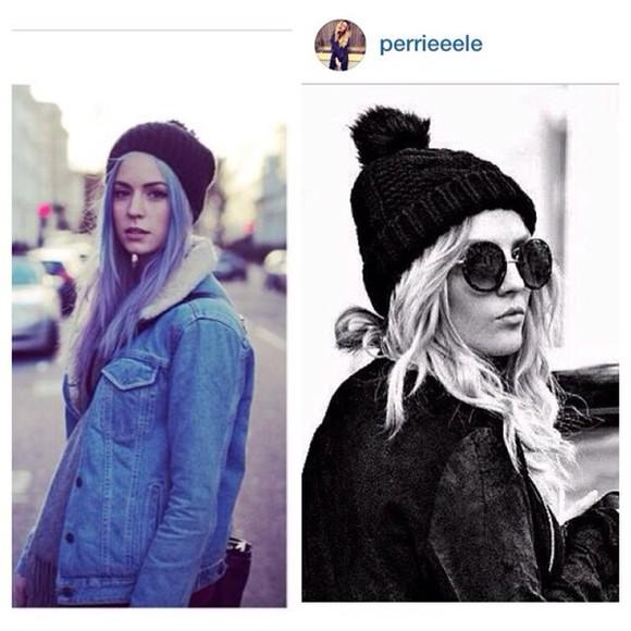 black glasses hair accessories gemma styles beanie winter hat