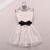 L 080201 Pearl Rhinestone Small Lapel Gauze Dress on Luulla
