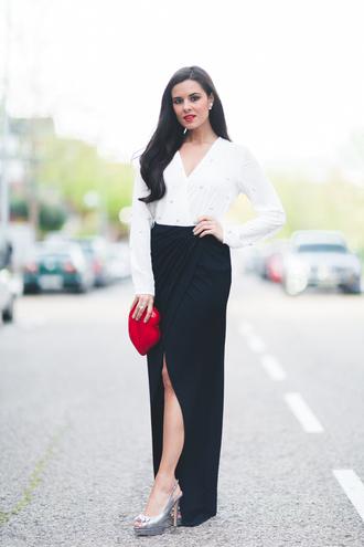 crimenes de la moda blogger blouse skirt bag shoes