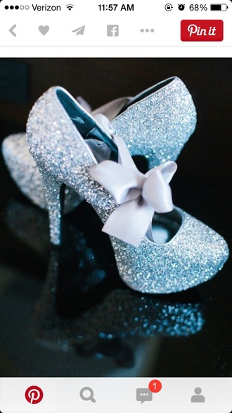 shoes sparkly heels sparkly shoes bows high heels stilettos wedding shoes